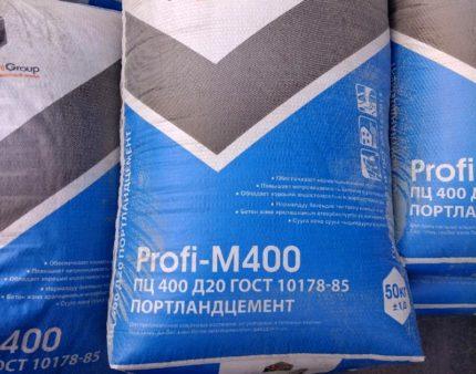 Mélange sec de ciment Portland pour chape