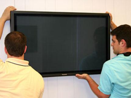 Processus d'installation du téléviseur