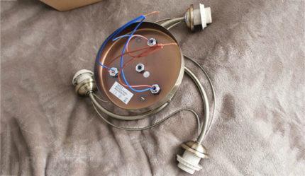Wires in chandelier horns