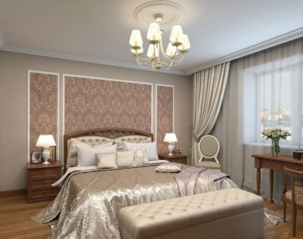 Lighting options in the bedroom above the bed