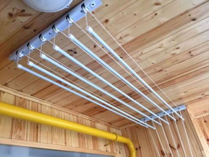 Ceiling dryer rods
