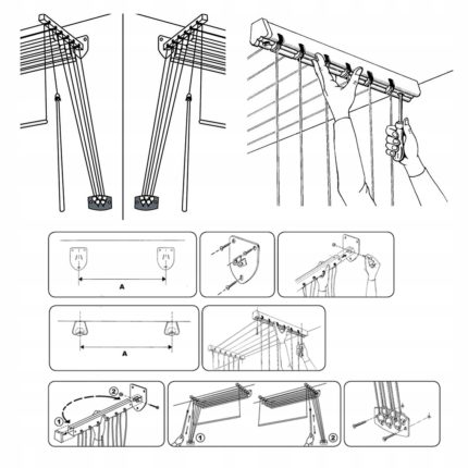 Dryer installation and assembly diagram