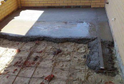 Garāžas grīdas siltināšana