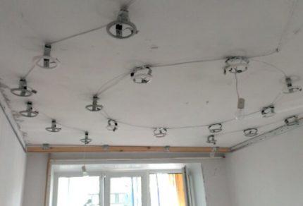 Plafond pour l'installation de spots