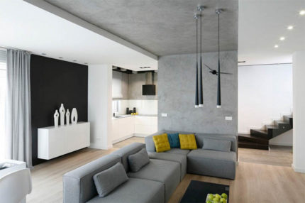 Intérieur de plafond en béton