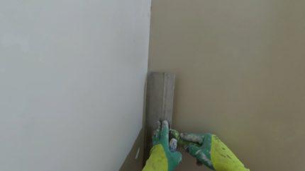 Aligner le mur dans la salle de bain
