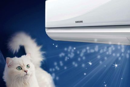 Distribution d'air par Samsung split system